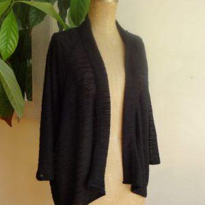 Vêtement écoresponsable | veste kimono noire