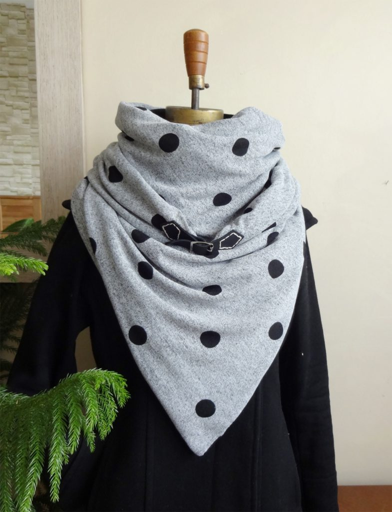 Vêtements écoresponsables   foulard hiver femme par Aniela Mieko