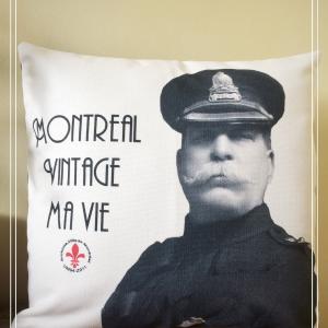 Housse de coussin de Pierre Bélanger chef de police Montréal 1920