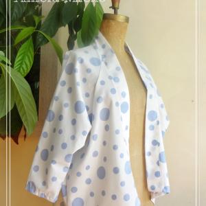 Veste estivale type kimono en coton blanc